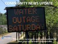 Community News Update - Construction Sign - Water Outage Saturday