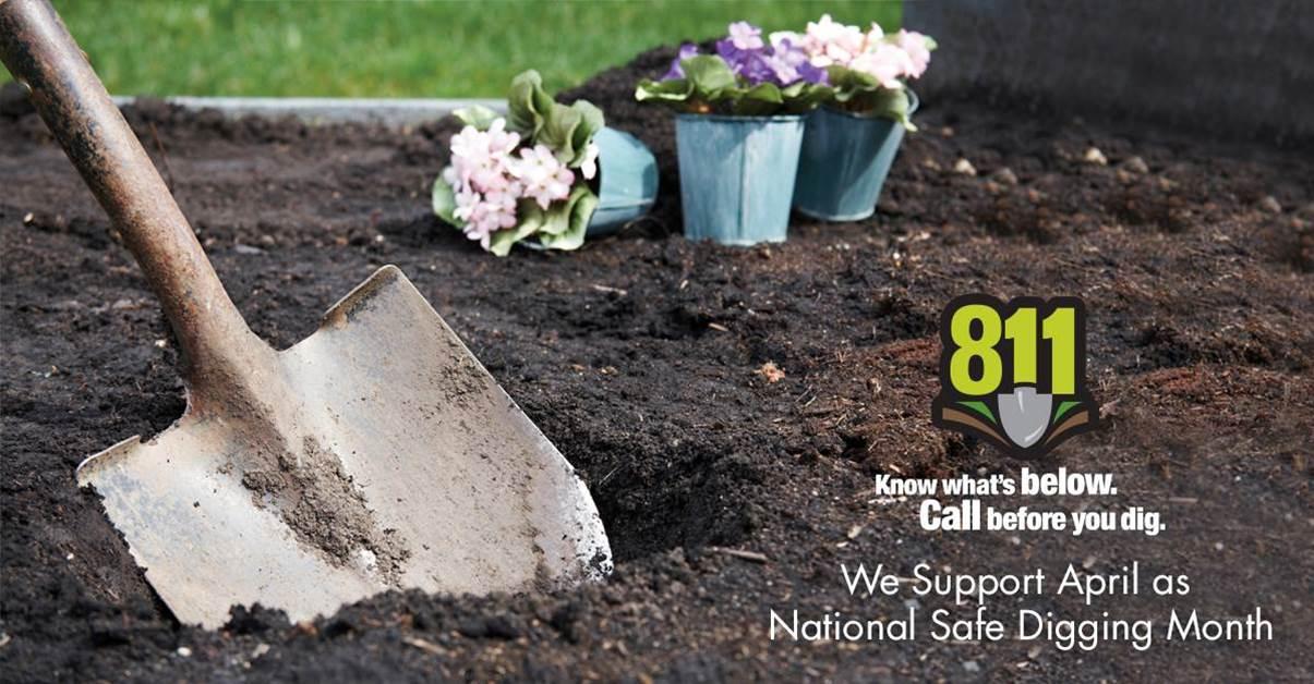 Digging Shovel - Practice Safe Digging