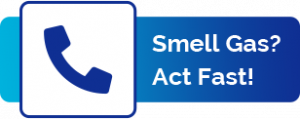 Smell Gas? Act Fast! Logo